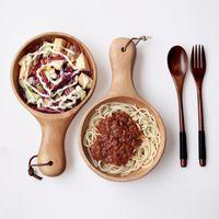 artisan food - cm salad artisan handmade wooden restaurant bowls plates bailer whole for food tableware wood soupe dishes