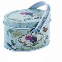 Wholesale 7 cm Small candy storage box jewelry tin box with Carrying Ring