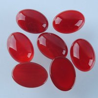 agate cabs lots - x18MM Jade Gem Oval Red Agate Cabochon CAB Jewelry F0398A