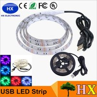 bank dc - 1M waterproof V RGB Led Strip mini controller USB cable to power bank PC TV LEDs V USB led strip