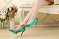 Wholesale 2016 new diamond single shoes fashion women s shoes Female elegant fair maiden high heels
