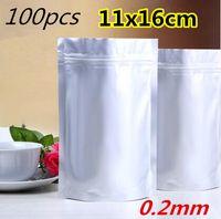 Precio de Bolsas de embalaje reutilizables-100pcs 11x16cm Mylar Stand Up bolsa de papel de aluminio puro de embalaje para el café de alimentos de almacenamiento a largo plazo Resellable bolsa Ziplock