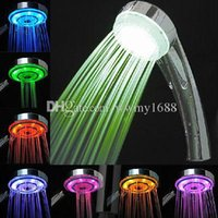 Wholesale Multiple Color Colors LED Shower Head Bathroom Faucet LED Head high quality