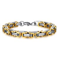 Wholesale Fashion Charm K Gold Plated Stainless Steel Bracelet For Men Gift DIY Handmade Polish Hot Sale Stainless Steel Jewelry