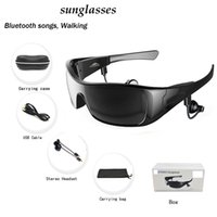Wholesale Smart Glasses Bluetooth Sunglasses Stereo Headset Touch Mode Black And White In stock Quickly Shipment Calling Music Accepted English