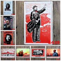 arts and crafts wallpaper - quot Che Guevara and Mao Zedong quot Vintage Metal Painting Tin Signs Bar Pub Home Cafe Wallpaper Art Decor Mural Poster Metal Craft x30 CM