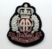 Wholesale Spot import manual metal silk embroidery cloth badge British retro Badge Medal CM suit
