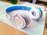 best dj music - Best MS Graffiti HD studio headset stereo HIFI noise canceling wired DJ sport music headphone for iphone Cool Street headset