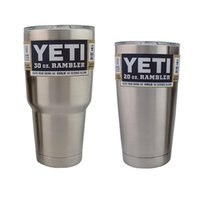 Wholesale In Stock YETI Rambler Tumbler Yeti oz oz Cups Cooler Travel Vehicle Beer Mug Double Wall Bilayer Vacuum Insulated