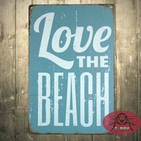 beach house signs - Personalised Rustic metal sign Wall House Name Stick love the beach Sign Plaque H