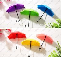 Wholesale 3pcs set umbrella viscose from nail wall hook shape Creative sticky hook
