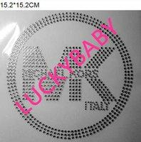 Wholesale pc hot fix rhinestone motif iron on crystal transfers design sticker products fixing rhinestones