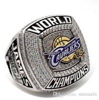 al por mayor champion rings-El más nuevo 2016 Cleveland Cavaliers James MVP Campeonato Nacional de Baloncesto anillo anillo de campeones de deporte de encargo sólido.