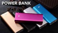 Wholesale Xiaomi Mi mAh Power Bank Portable Emergency Battery External Chargers Samsung Galaxy Powerbanks Cell Phones power banks Powerbank
