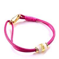 Wholesale Jade Legend Natural Exquisite Hetian Jade Charm Leather Belt Bracelets Pink Size MM Gem Size MM