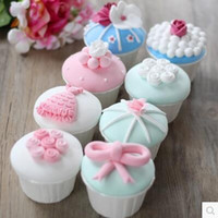 Wholesale Artificial Cupcake Macarons play food birthday wedding party creative decorations cake shop display