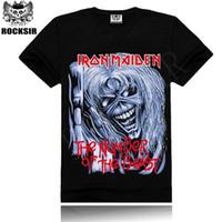 Wholesale men t shirts D rock cotton fashion Iron Maiden rock hip hop t shirts tops male S XXXL