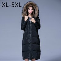 big down coat - 2016 Women Winter Parkas Down Coat White Duck Down Jacket Hooded Raccoon Fur Collar Big Size XL XL Thicker Warm Outwear X Long