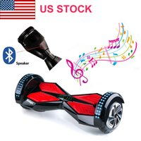 Wholesale US STOCK Inch BT Speaker LED Lights Wheels Electric Scooters Smart Balance Wheel Drift Board Scooter Skateboard Hoverboard