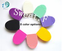Wholesale Silicone Cleaner Cleaning Brush Makeup Brush Makeup Brush Ceaner Cleaning Tool Colors Can Be Mixed Batch of Factory Direct
