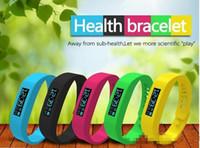 Wholesale 5 Color rainbow Smart Sports Bracelet original Fitbit flex health records pedometer step counter wireless sleep bracelet B2