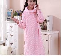 Wholesale Baby girls and children flannel Nightgown in children s clothing thickened Coral Fleece Pajamas girl Home Furnishing