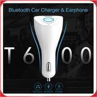 apple bluetooth car kit - Mini Car Bluetooth Earphone Charger Joyroom Portable in USB Car Charger Bluetooth Earphone Kit For Apple IPhone Samsung phones