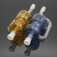 big converter - 2016 Colored Dropdown Glass Bong Adapter mm Male to mm Female Joint Glass Converter Big Container Recycler Percs For Glass Water Bongs