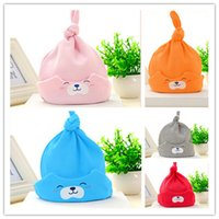 baby beers - New era cap cotton Baby hats winter earflap hats Kids cartton hat beer Solid color DHL shipping