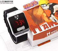 anime merchandise - Naruto anime merchandise revolver eye logo square LED touch screen watch color light optional