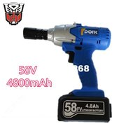 Wholesale 58v rechargeable lithium battery scaffolding timberman Electric impact wrench hand drill hammer hammer installation power tools