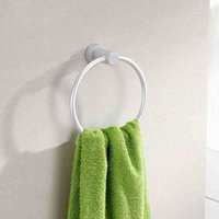 Wholesale Portable Round Aluminum Towel Holder Rings Wall Mounted Bathroom Towel Racks New Y102