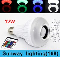 rf light wireless remote control - New Wireless Bluetooth Speaker LED Light Bulb W With RF Remote Control Smart wifi lamp RGBW Color Changable Intelligent LED lamp E27