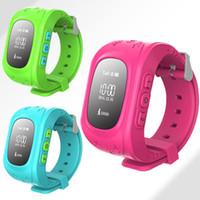 achat en gros de poignet suivi de la montre-Nouveau moniteur de sécurité Q50 Kids Anti-lost Safe GPS Smart Watch SOS Call Watch Piste de suivi de poignet Lost Monitor Baby pour Android et IOS