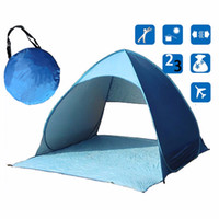 Wholesale set Full Automatic Tent beach tent festival shelter childrens UPF sun screen wind break quick open tent