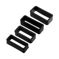 Wholesale Black Rubber Silicone Watch Band Strap Retaining Hoop Loop Keeper Buckle Holder Locker mm Brand New High Quality