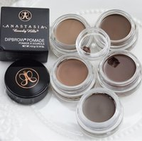 Wholesale DIPBRO Pomade Medium Brown Waterproof Makeup Eyebrow g Blonde Chocolate Dark Brown Ebony Auburn Medium TAUPE with Retail Package