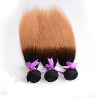 Wholesale Ombre Hair B B B J Brazilian Peruvian Indian Malaysian Hair Wefts Staight Human Hair