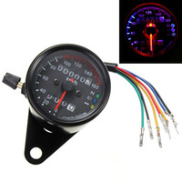 Wholesale new arrival DC V Dual LED Backlight Night Readable Speedometer Gauge Panel Motorcycle Universal Odometer Instrument MOT_50J