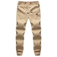 Wholesale Large Size M XL New Design Casual Vintage Fashion Beam Foot Men Pants Summer Fashion Mens Joggers Harem Pants Men Color