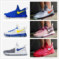 Cheap 2016 New Arrival KD 9 Men's Basketball Shoes KD9 Oreo Grey Wolf Kevin Durant 9s Sports Training Sneakers Warriors Home Size 7-12
