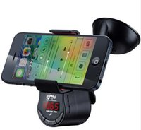 Wholesale FM09 Car Holder for Smart Phone With Charging FM Transmission Function Builtin chargrable lithium battery