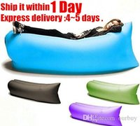 Wholesale In stock laybag Fast Inflatable hangout Air Sofa sleep bag Camping Bed Sofa Lounger Only Need Ten Seconds kaisr