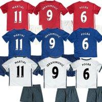 away bar - Best Thai quality ManchesterKids Ibrahim OVI CP OG bar rugby jerseys away blue Rooney Memphis martial united Paris