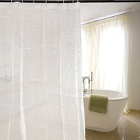 Wholesale 3D cm Water Effect Cube Design Shower Curtain Water Resistance Bathing EVA Clear Thicker Waterproof Bathroom Curtains