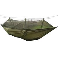 Precio de Altos tiendas de campaña-Al por mayor-aire denso Netted hamaca del paracaídas por Caminante tienda de campaña del 260 * 130cm árboles de dormir de alta strengt Naturehike