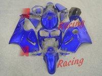 Wholesale 3 Free gifts New ABS motorcycle Fairing set for Kawasaki Ninja ZX12R ZX R ninja r ZX12 Bodywork kit all blue Tank