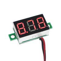 Купить Приборная панель вольтметр-Высокое качество цифровой светодиодный дисплей автомобиля мотоцикла Вольтметр Напряжение Вольт метр панели Battery Monitor 0.36