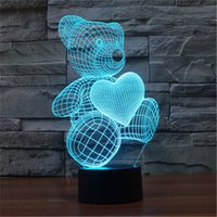 bear touch lamp - Children s bedroom D home decoration Bulbing LED Lamp Zoo Life Bear Bear night light D TD70