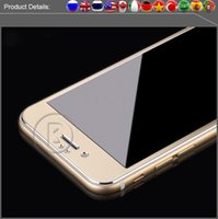 alloy protector - Full Cover quot D Curved Edge Titanium Alloy Protective Film Tempered Glass Screen Protector for iPhone s Plus